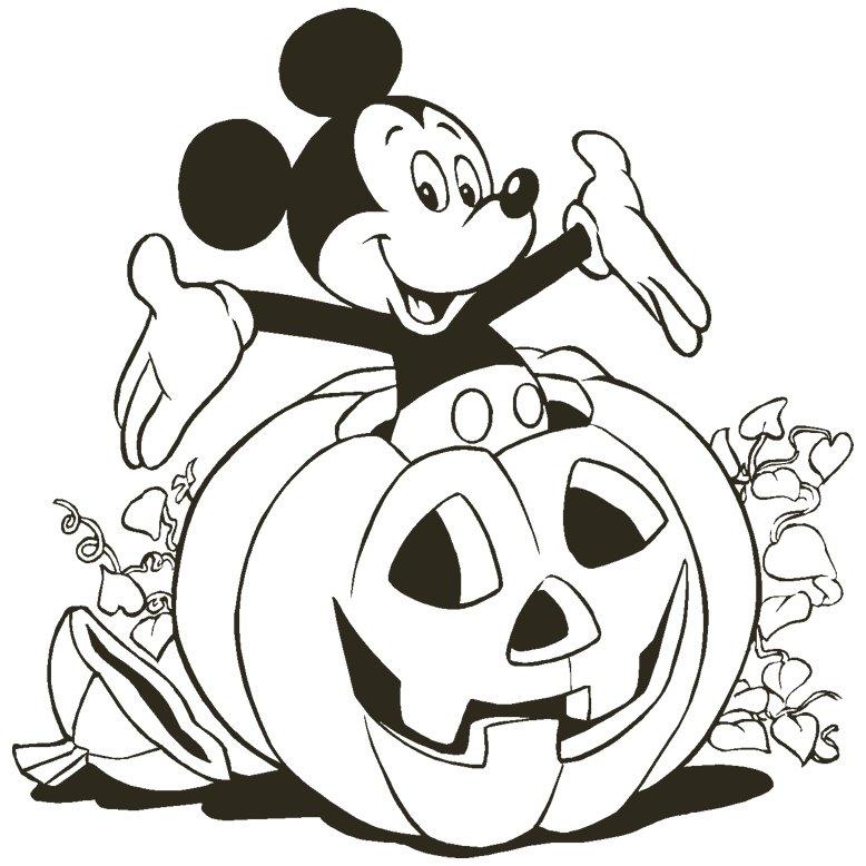 Halloween Coloring Printables Mickey Pumpkin Disney