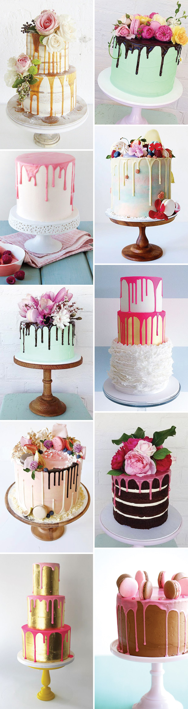 colour-drip-wedding-cakes