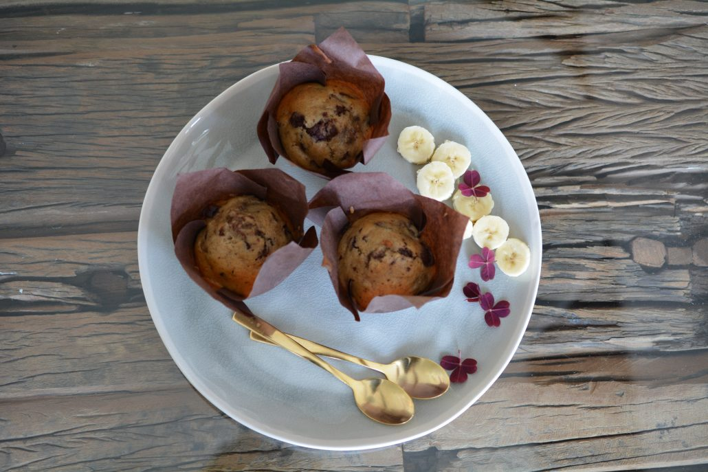 lækre bananmuffins