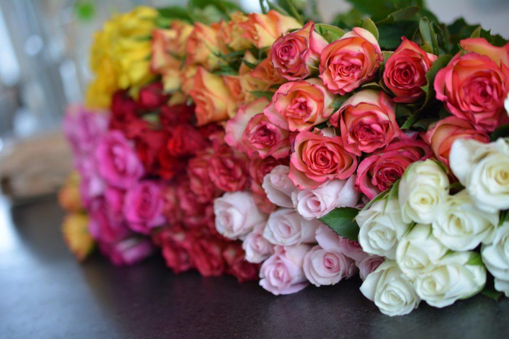 brudepiger roser