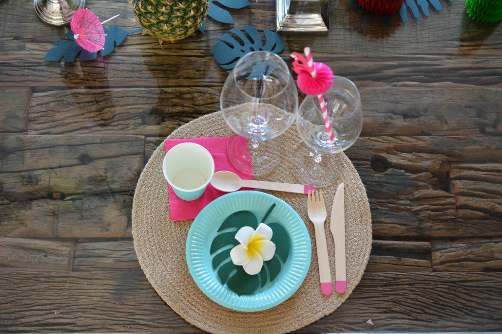 fødselsdag aloha party bord
