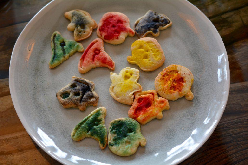malede halloween cookies