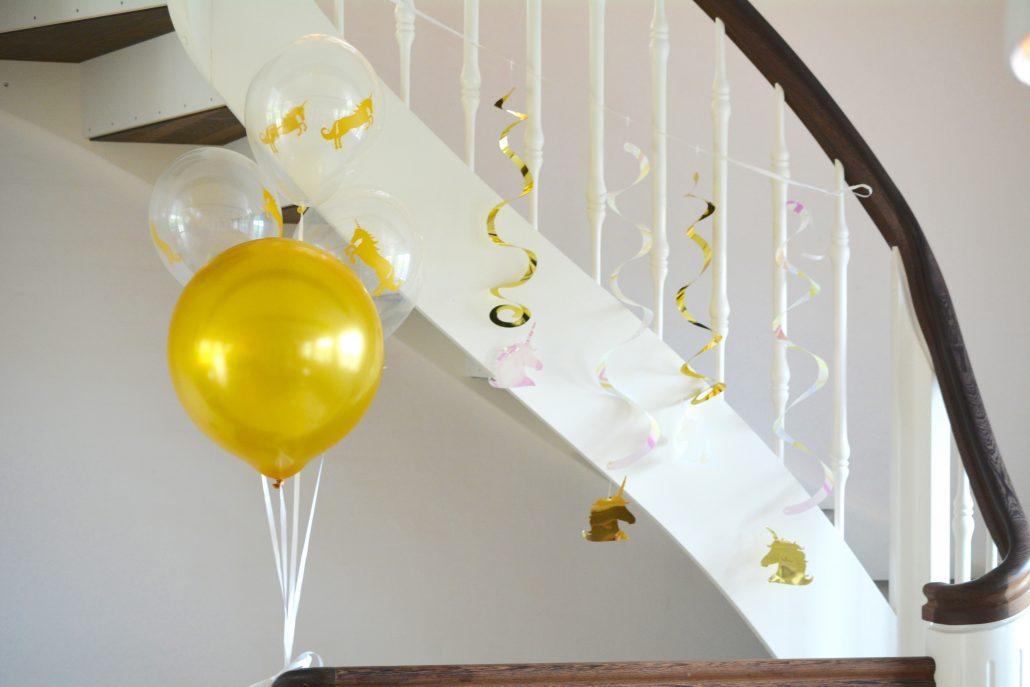 unicorn fødselsdag balloner