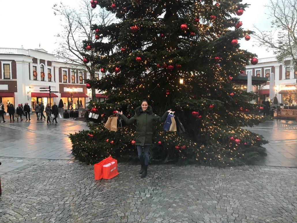 designer outlet einsmuttur indgang juletræ