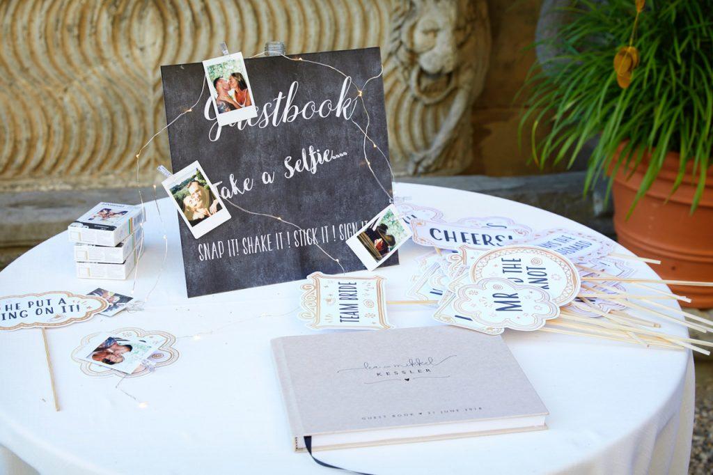 bryllup middag fest gæstebog