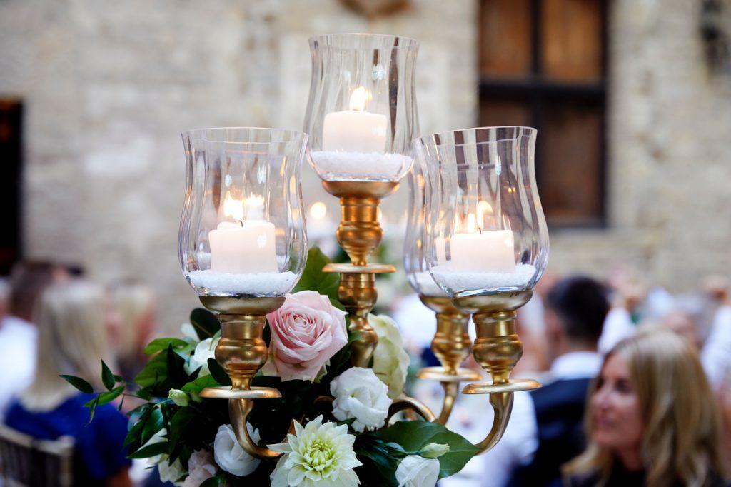 bryllup middag fest lys dekor