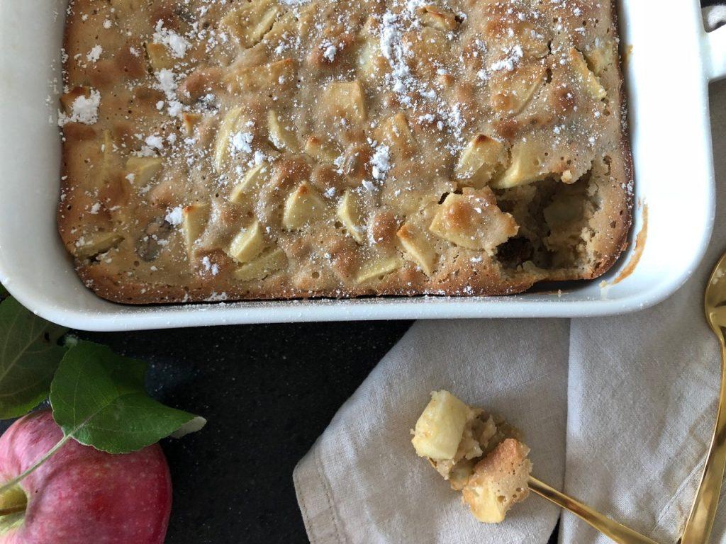 opskrift bagt æblekage