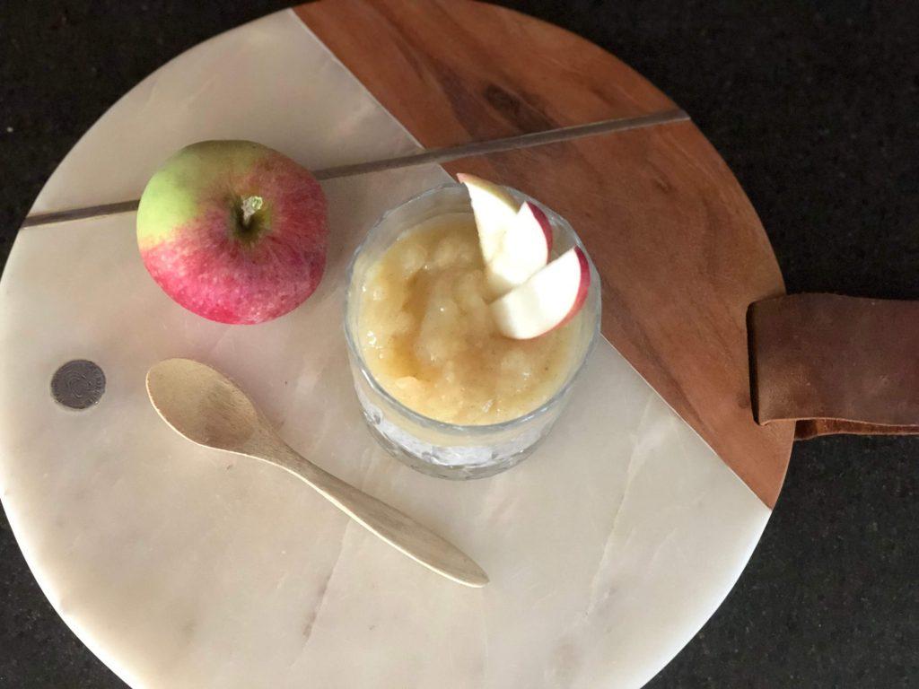 vanilje chiagrød med æble