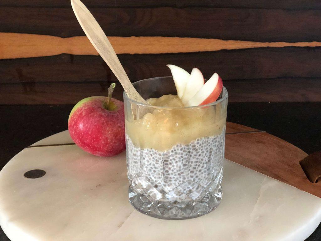 chiagrød med æble morgenmad