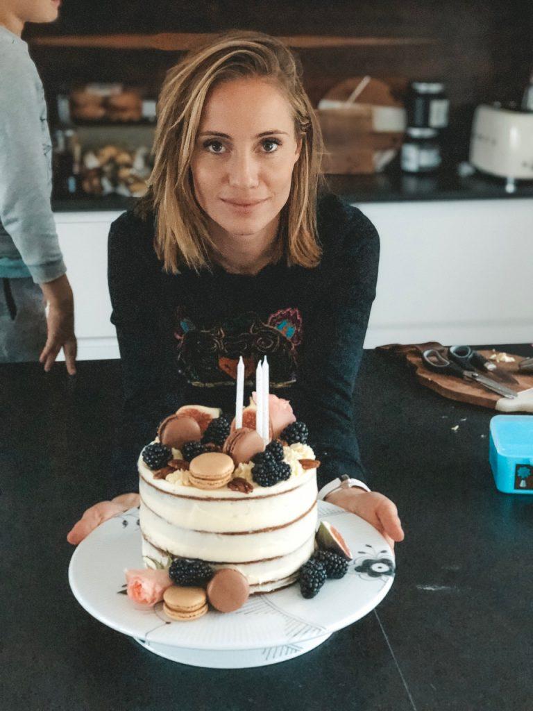 fødselsdag fødselsdagskage gulerodskage lea