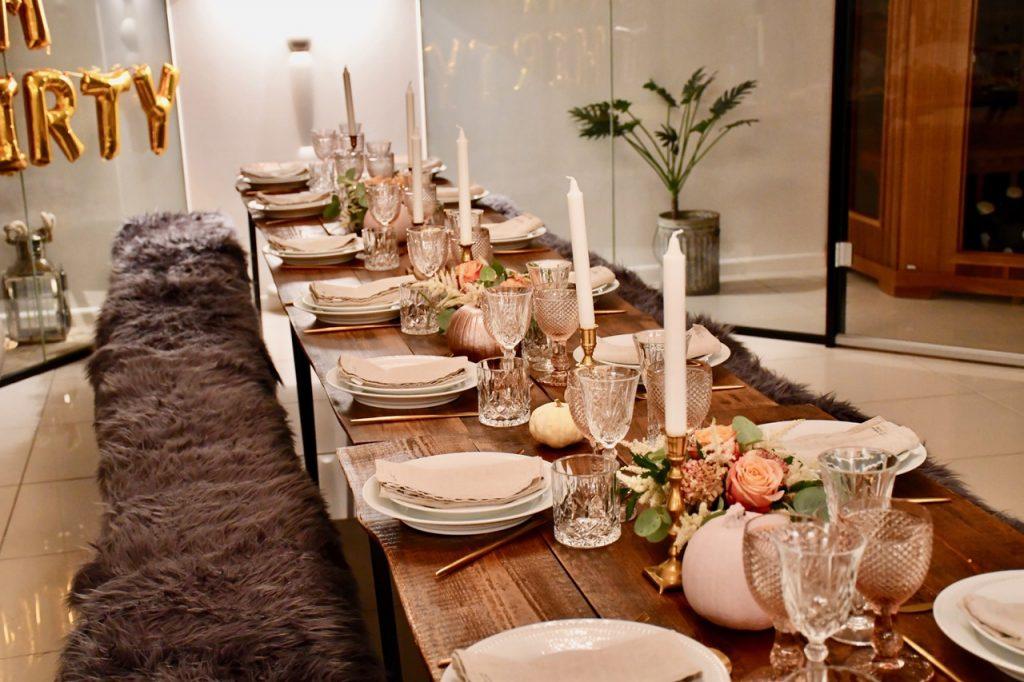 30 års fødselsdagfest borddækning pynt