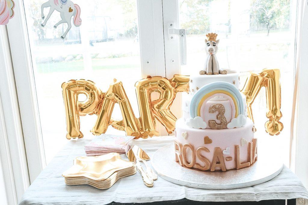 3 års fødselsdag kage