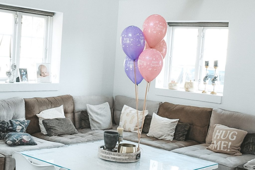 3 års fødselsdag kage balloner