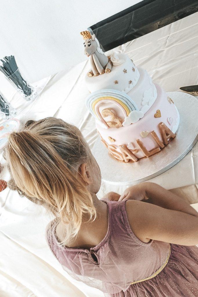 3 års fødselsdag kage enhjørningkage