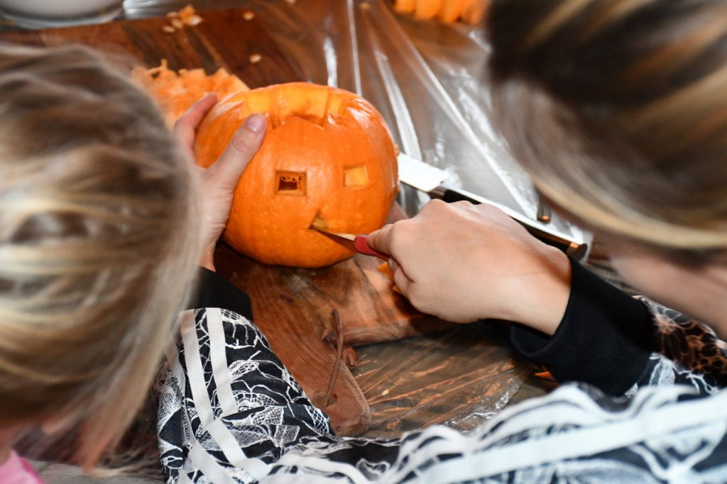 halloween græskar udskæring 1