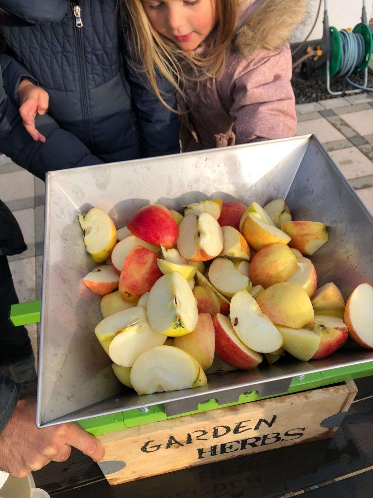 efterår æblemost æbler hjemmelavet