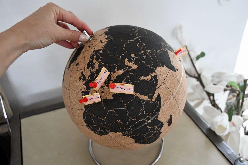 rejseminder globus verdenskort