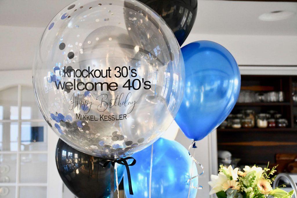 40 år fødselsdag balloner