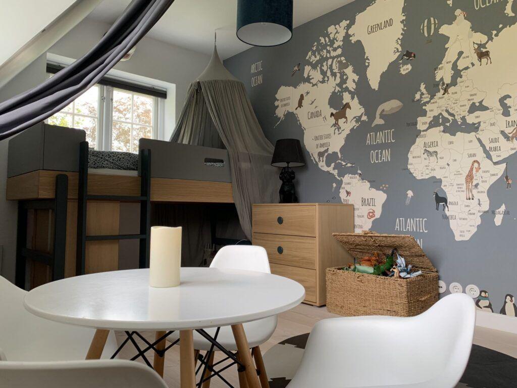 drengeværelse, børneværelse, landkort 1
